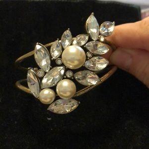Vintage crystal bracelet / cuff